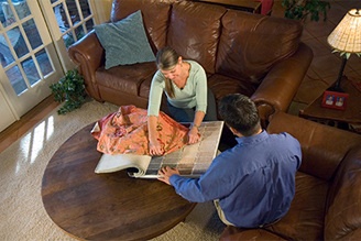 Choose new flooring for your home.  We'll come to you.