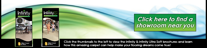 Infinity Nylon carpet fiber™ by American Showcase.  Making your flooring dreams come true.