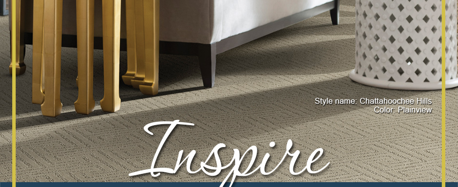 Inspire. Infinity Ultra Soft carpet Style name: Chattahoochee Hills | Color: Plainview.